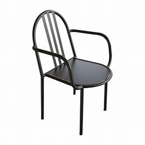 Chaise Avec Accoudoir But : mallet stevens chaise avec accoudoir en m tal noir habitat ~ Teatrodelosmanantiales.com Idées de Décoration
