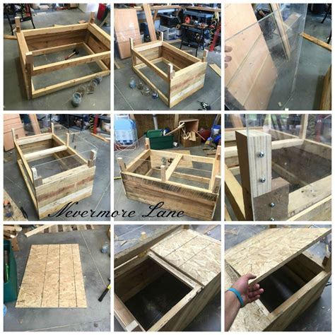 Pallet Wood Dog Bed with Storage #diy #upcycle #palletwood ...