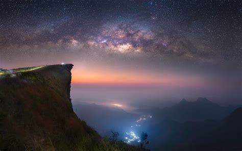 Starry Night Long Exposure Milky Way Galaxy
