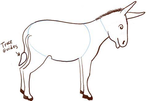 draw cartoon donkeys mules  simple steps