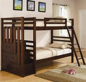 Top Full Over Bunk Beds With Stairs Home Stair Design ...