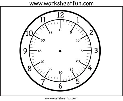 time printable clock face  worksheets