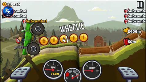 hill climb racing monster truck how far can we go in a monster truck hill climb racing 2