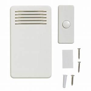 75 Db Wireless Battery Operated Door Bell Kit With 1