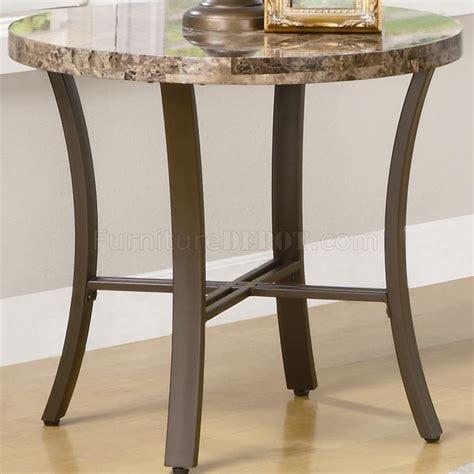 marble   top metal base modern pc coffee table set