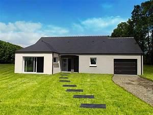 Maison Plain Pied En L : maison neuve plain pied menuiserie ~ Melissatoandfro.com Idées de Décoration