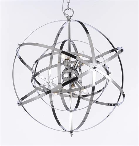 g7 2155 6 wrought with wrought chrome orb chandelier