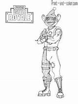 Fortnite Coloring Skin Ice Season Coloriage Battle Royale Lynx Knight Colorare Printable King Colouring Dessin Thanos Colorier Nite Marshmello Outfit sketch template