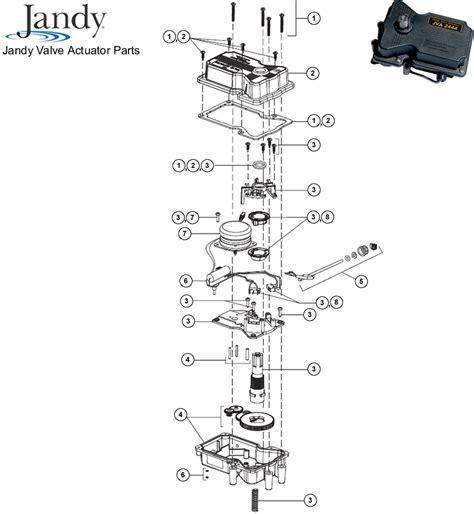 Valve Actuator Diagram by Waterpik Jandy Valve Actuator Replacement Parts Diagram