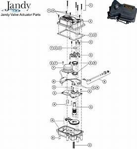 Waterpik Jandy Valve Actuator Replacement Parts Diagram