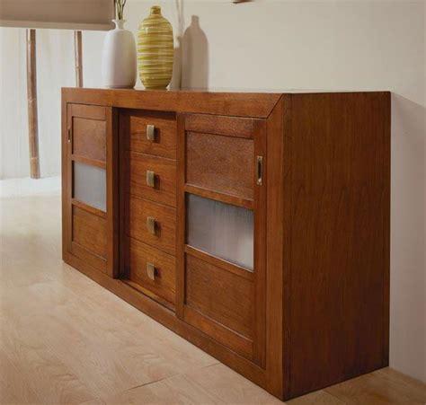 aparador puertas correderas muebles de madera  vidrio