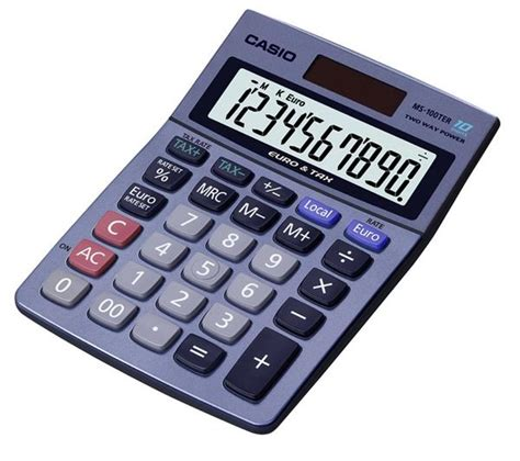 Casio Desk Calculator by Casio Ms100 Desk Calculator Solar Powered Currency