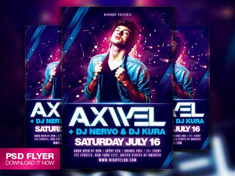 concert banner template psd free concert poster template template business