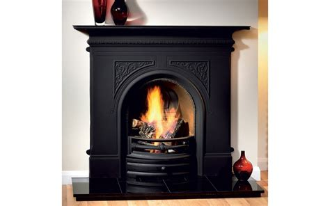 Black Fireplace - pembroke black cast iron fireplace cast iron fireplaces