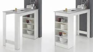Bartisch Mit Regal : bartisch moyito tisch in wei und betonoptik inkl regal 115x50 cm ~ Indierocktalk.com Haus und Dekorationen