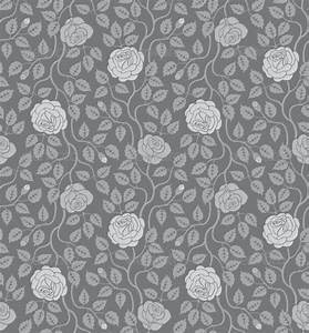 Seamless Flowers and Leaves Pattern by Allaya | GraphicRiver