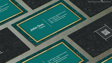 teacher business card template business cards templates