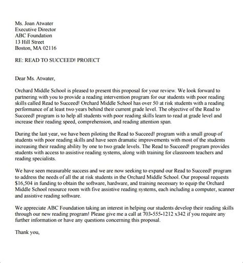 sample proposal letter templates