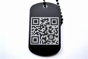 Dog tag qr dog tags pinterest for Qr code dog tag