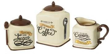 coffee themed kitchen canisters coffee themed canister sugar bowl creamer kitchen decor gift set ebay