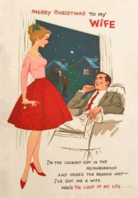 vintage   wife  mas card vintage christmas cards