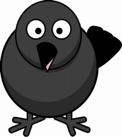 Raven Crow Clip Bird Blackbird Cartoon Clipart