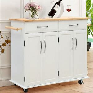 Kitchen Cupboard On Wheels by Large Kitchen Island Trolley Cart On Wheels With Cupboard