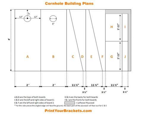 printable cornhole building plans dimensions cornhole