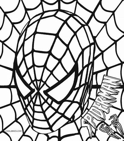 Spiderman Coloring Pages Printable Symbol Cool2bkids Colouring