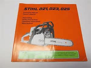Stihl Chainsaws 021   For Sale Classifieds
