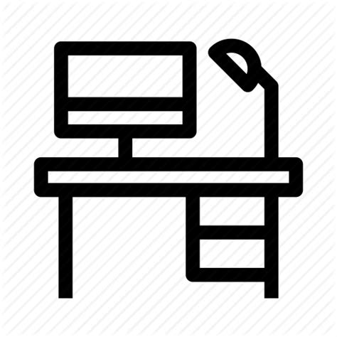 Office Desk Icon by Desk Furniture Office Office Desk Table Icon