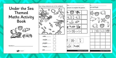 under the sea themed ks1 maths activity book numeracy booklet