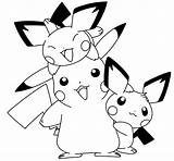 Pokemon Pichu Coloring Pages Raichu Pikachu Happy Printable Getcolorings Teens Sheets Getcoloringpages Playful Filminspector sketch template