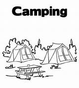 Coloring Tent Camp Summer Forest Pages Camping Colouring Sheets Activity Outdoor Kid Activities sketch template