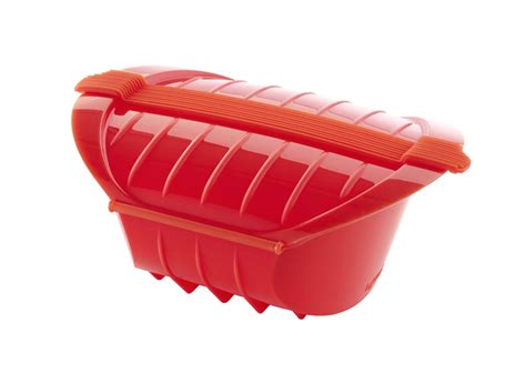 lekue ogya silicone microwave pot    person oz red cutlery