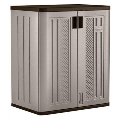 suncast storage cabinet home depot suncast 30 in x 36 in 2 shelf resin base storage cabinet