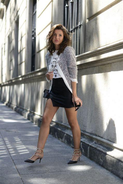 outfit ideas  edgy  elegant rockstud pumps