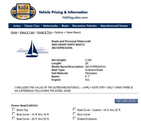 boat prices  nada guides