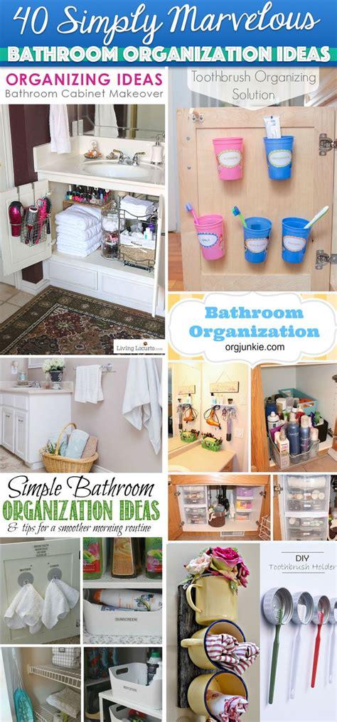 bathroom cabinet organization ideas 40 simply marvelous bathroom organization ideas to get rid