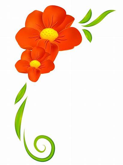 Orange Flower Clipart Elements Decorative Transparent Yopriceville