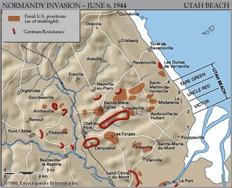 Carte De Plage Normandie by Utah World War Ii Britannica