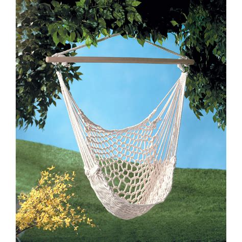 hammock chair swing hanging indoor outdoor cotton rope
