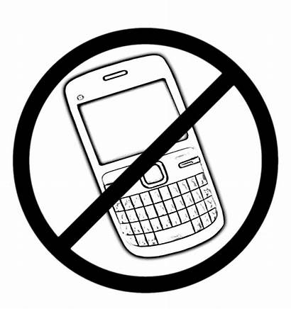 Cell Phone Banned Sign Mobile Phones Sketch