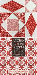 storm at sea quilt template - video tutorial storm at sea quilt block version 1
