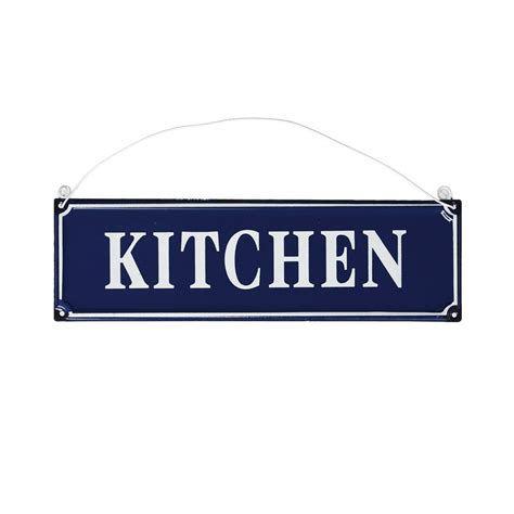 French Blue Metal Kitchen Sign  Rex London (dotcomgiftshop. Manjula's Kitchen Black Eyed Beans. Open Plan Kitchen Diner Living Room. Kitchen Door Handles Ikea. Kitchen Hood Guide. Awesome Kitchen Pranks. Free Standing Kitchen Bench Nz. Kitchen Pantry Pull Out Shelves. Kitchen Tile Floors With Oak Cabinets