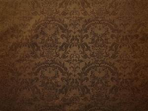 Brown Damask Floral Pattern Canvas Background - PhotoHDX