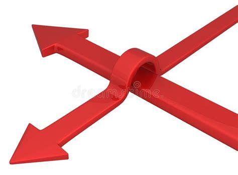 Freccia Che Evita Gli Ostacoli Illustrazione Vettoriale