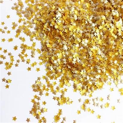 Glitter Gold Stars Bling Sprinkle Quarter 4th