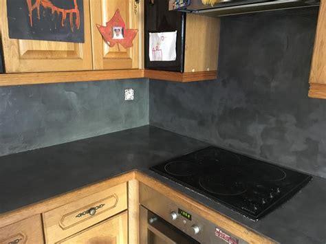 enduit cuisine lessivable enduit béton resinence gris carbone 4 l leroy merlin