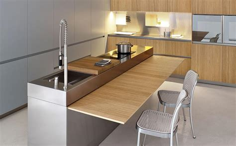 kitchen island pull out table space saving kitchen island with pull out table homesfeed